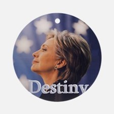 Hillary Destiny Round Ornament