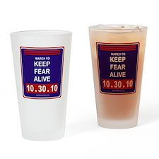 marchtokeepfearaliveblack Drinking Glass