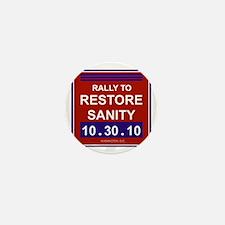 rallytorestoresanityblack Mini Button