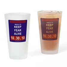 marchtokeepfearalive2black Drinking Glass
