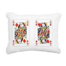 Queens (red) Rectangular Canvas Pillow