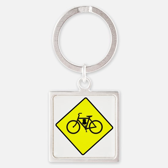 motor-bike-symbol Square Keychain