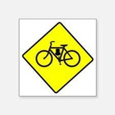 "motor-bike-symbol Square Sticker 3"" x 3"""