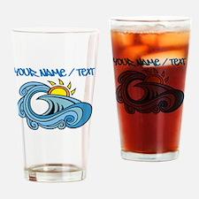 Ocean Wave Drinking Glass
