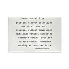 Seven Social Sins Rectangle Magnet