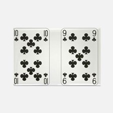 Ten Nine Clubs Rectangle Magnet