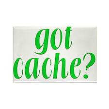 GotCache-green Rectangle Magnet