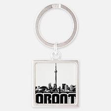 Toronto Skyline Square Keychain