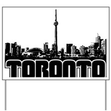 Toronto Skyline Yard Sign
