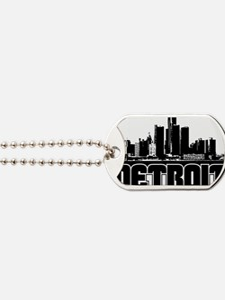 Detroit Skyline Dog Tags