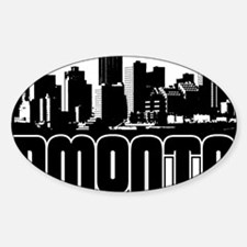 Edmonton Skyline Sticker (Oval)