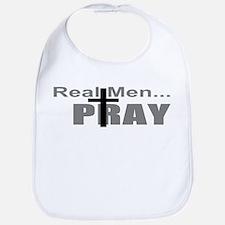 Real Men Pray Bib