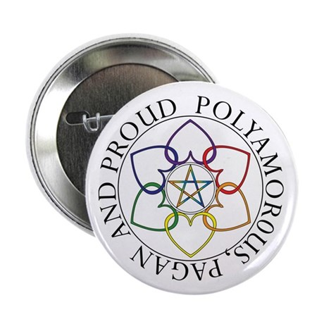 """Pagan Poly and Proud circle 2.25"""" Button (10 pack)"""