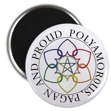 "Pagan Poly and Proud circle 2.25"" Magnet (10 pack)"