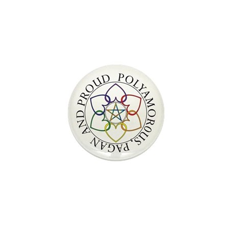 Pagan Poly and Proud circle Mini Button (100 pack)