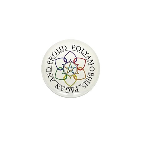 Pagan Poly and Proud circle Mini Button