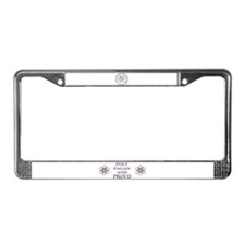 Pagan Poly and Proud circle License Plate Frame