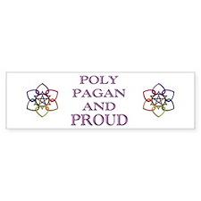 Pagan Poly and Proud circle Bumper Car Sticker