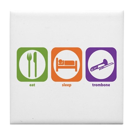Eat Sleep Trombone Tile Coaster