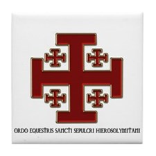 Knights Of The Holy Sepulchre Tile Coaster