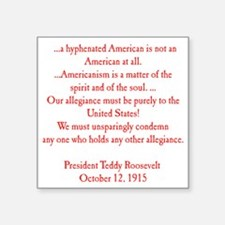 "american hyphen(back) Square Sticker 3"" x 3"""
