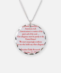 american hyphen(back) Necklace
