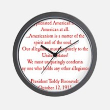 american hyphen(back) Wall Clock