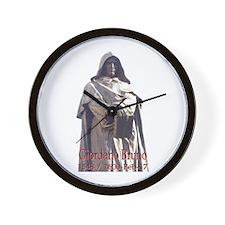 Giordano Bruno Wall Clock
