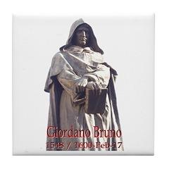 Giordano Bruno Tile Coaster