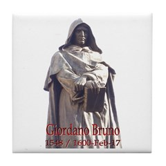 Giordano Bruno Tile Coaster