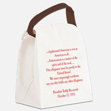 american hyphen(back) Canvas Lunch Bag