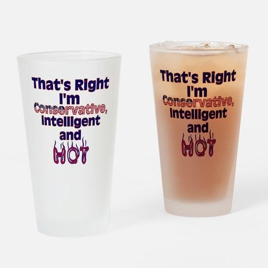 conservativewomanHOT2 Drinking Glass