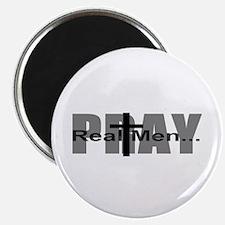 Real Men Pray Magnet
