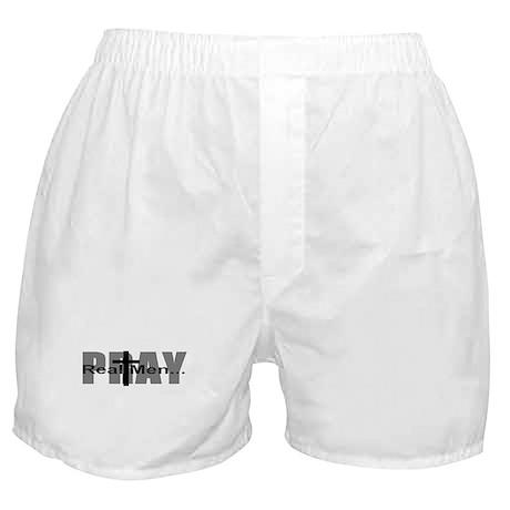 Real Men Pray Boxer Shorts