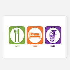 Eat Sleep Tuba Postcards (Package of 8)