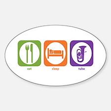 Eat Sleep Tuba Oval Decal