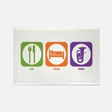 Eat Sleep Tuba Rectangle Magnet