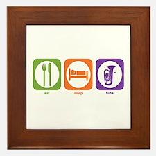 Eat Sleep Tuba Framed Tile