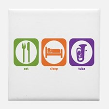 Eat Sleep Tuba Tile Coaster