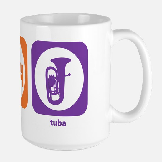 Eat Sleep Tuba Large Mug