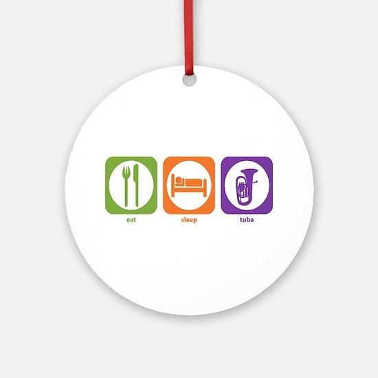 Eat Sleep Tuba Ornament (Round)