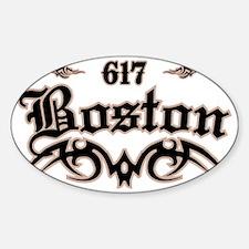 Boston 617 Sticker (Oval)