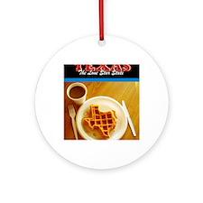 Postcard Texas Waffle_300dpi_4x5 Round Ornament