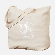 DaVinciSkull_white Tote Bag