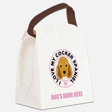 Custom Cocker Spaniel Canvas Lunch Bag