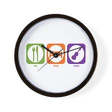 Eat Sleep Violin Wall Clock