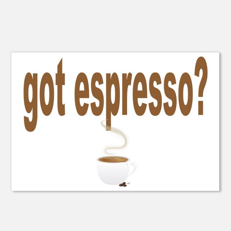 got espresso a Postcards (Package of 8)