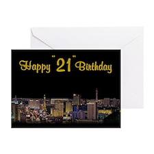 "Happy ""21"" Birthday Cards (Pk of 10)"