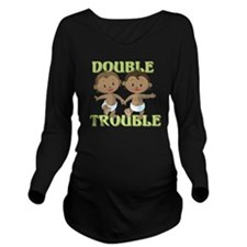 Double Trouble Long Sleeve Maternity T-Shirt