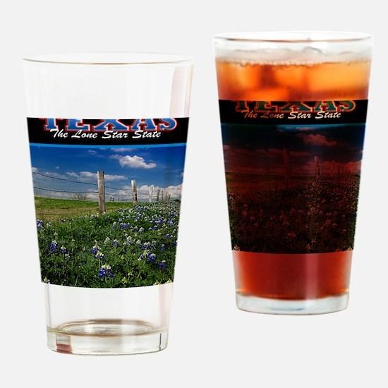 Postcard Texas Bluebonnets_0999_300 Drinking Glass